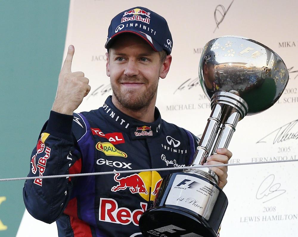 Red Bull driver Sebastian Vettel of Germany,AP Photo/Shizuo Kambayashi