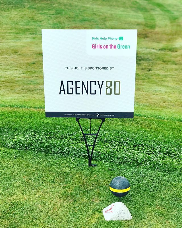 Agency 80 is a proud sponsor and  supporter of the ladies golf tournament, Girls on the Green. It is a charity event in support of the Kids Help Phone foundation. We couldn't be happier to be a part of such an amazing group of women who come together for such an important cause. Good luck to everyone on the green!!