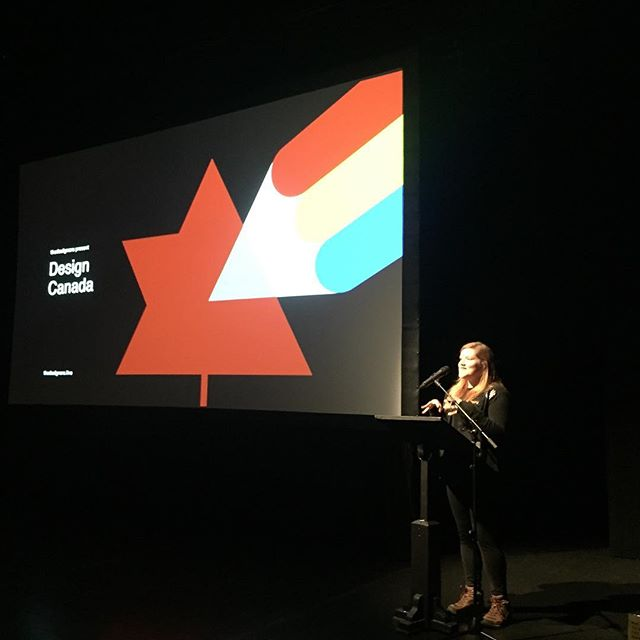 #throwbackthursday to @thedesignersnl screening of Design Canada. Our own designer @jessiejmeyer was the emcee for the evening and had a chance to chat with the director Greg Durrell after the film! Check out thedesigners to get info about future events and connect with creatives in our community. #graphicdesign #documentary #designcanada #designcanadafilm