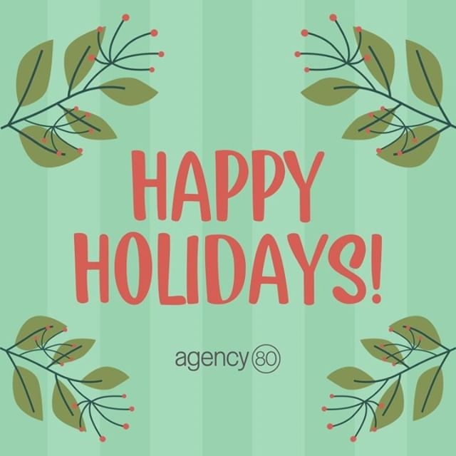 Merry Christmas from Agency 80 to you! We hope you have a wonderful day surrounded by those you love. ❤