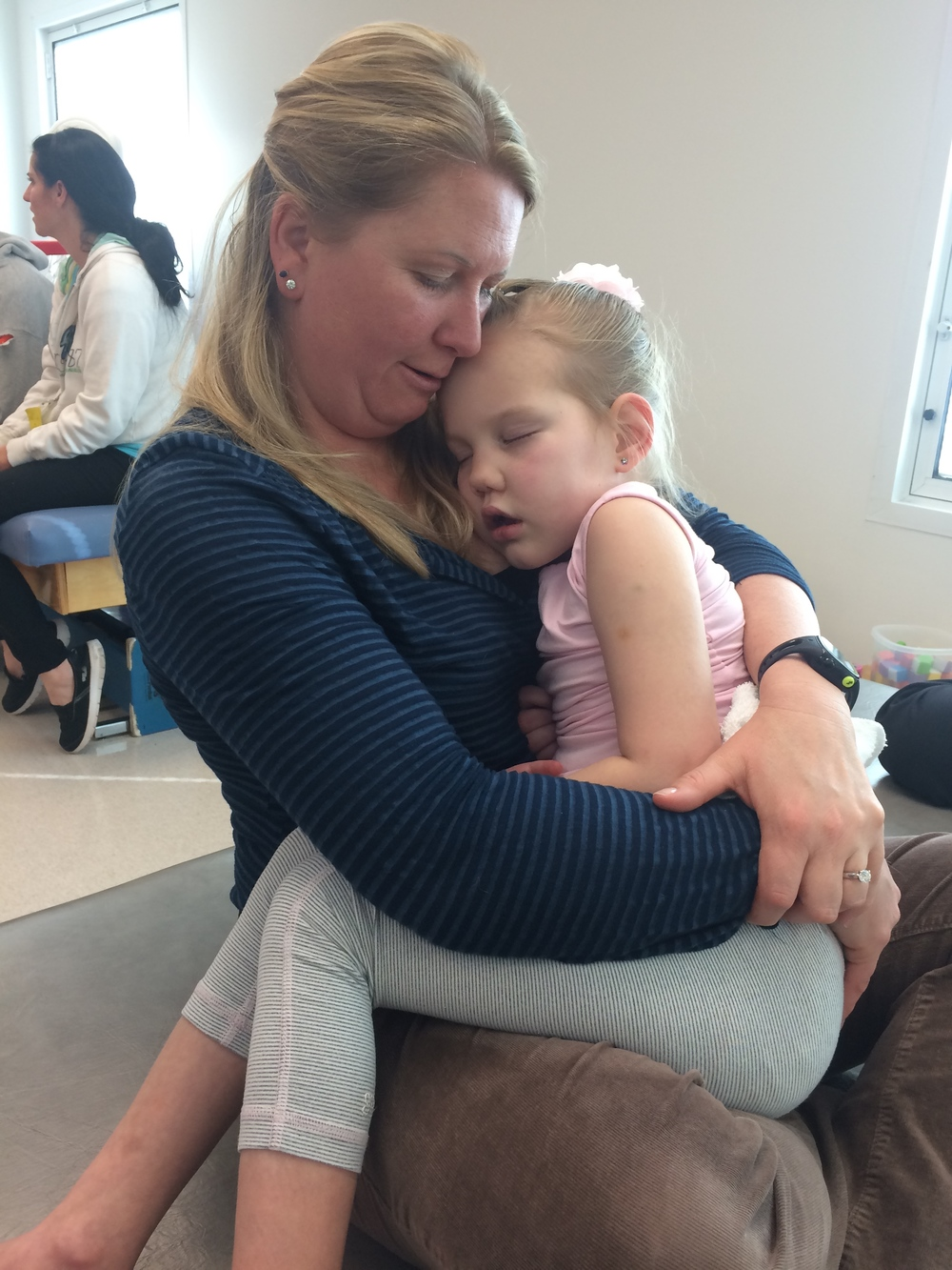 Tara was Kycie's Occupational Therapist.  She had to give Kycie an early goodbye as she was not working the day Kycie was discharged.  Every therapist loved Kycie like their own and it was an emotional goodbye.