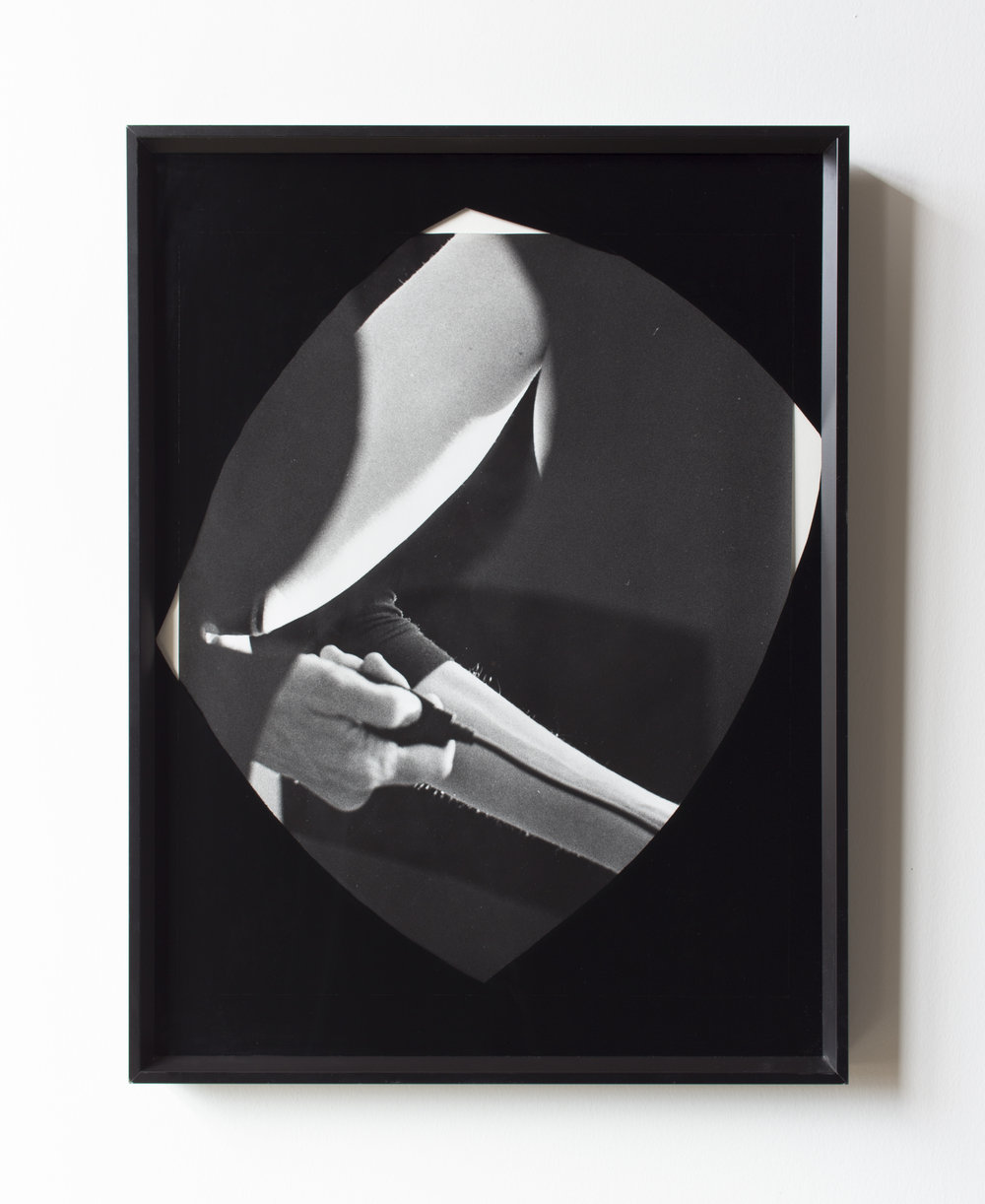 Untitled , 2018, Silver Gelatin Print, Glass and Enamel Paint, 24 x 18 inches