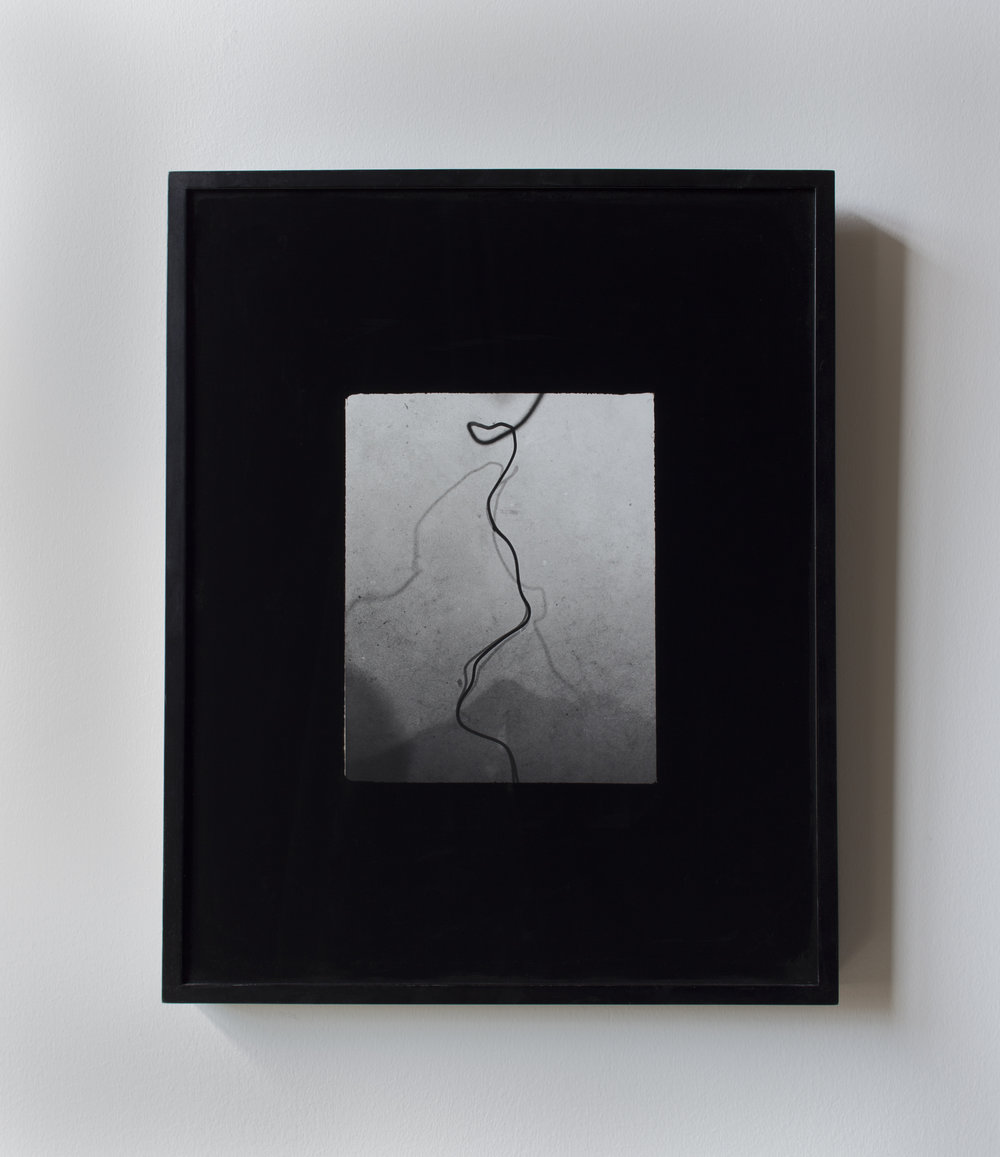 sway, reach , 2018, Silver gelatin, glass and enamel , 10 x 8 inches (print) 20 x 16 (frame)