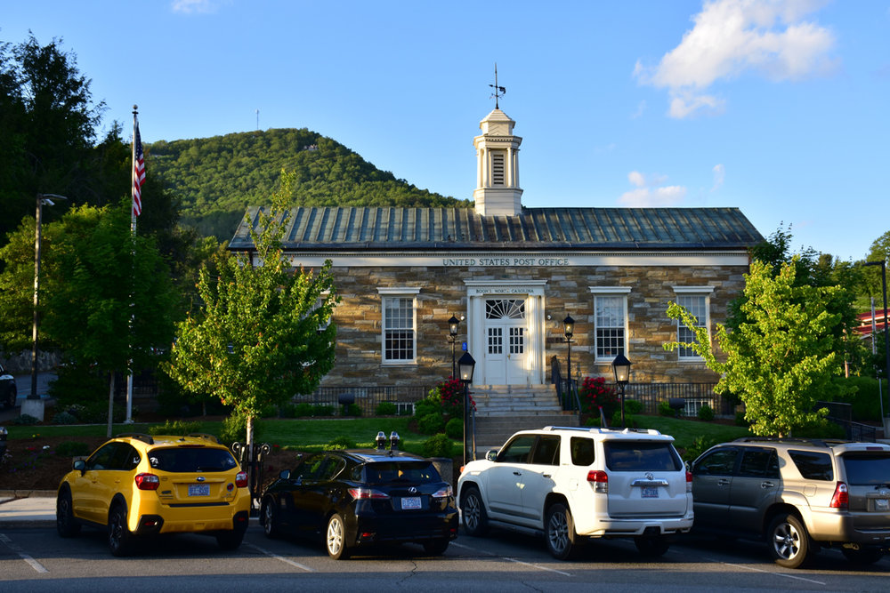 The downtown Boone Post Office is located at 680 West King Street.