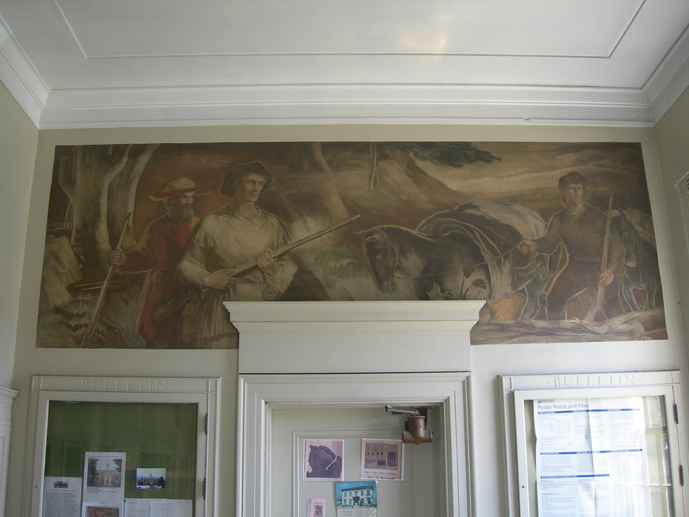 The downtown Boone Post Office mural.