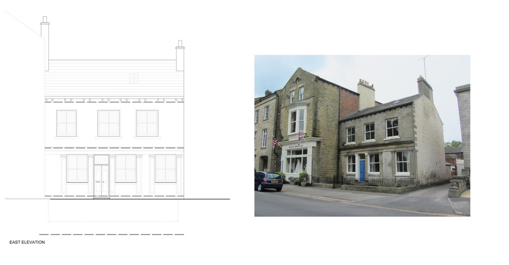 We have recently been granted planning and listed building consent on 30 Park Parade, Harrogate. The house is a Grade II Listed former shop. The approval grants permision for repair to sections of the building whilst permitting the opening up of some of the internal ground floor rooms to create an open plan space internally.