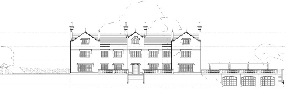 Planning Update: New Hall, Wiswell has recieved planning approval for a new build 20,000sqft Jacobean Manor House. The scheme is due to start on site in the near future.