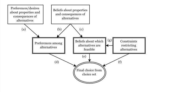Figure 1: The standard model of choice from Hausman (2012), edited for clarity