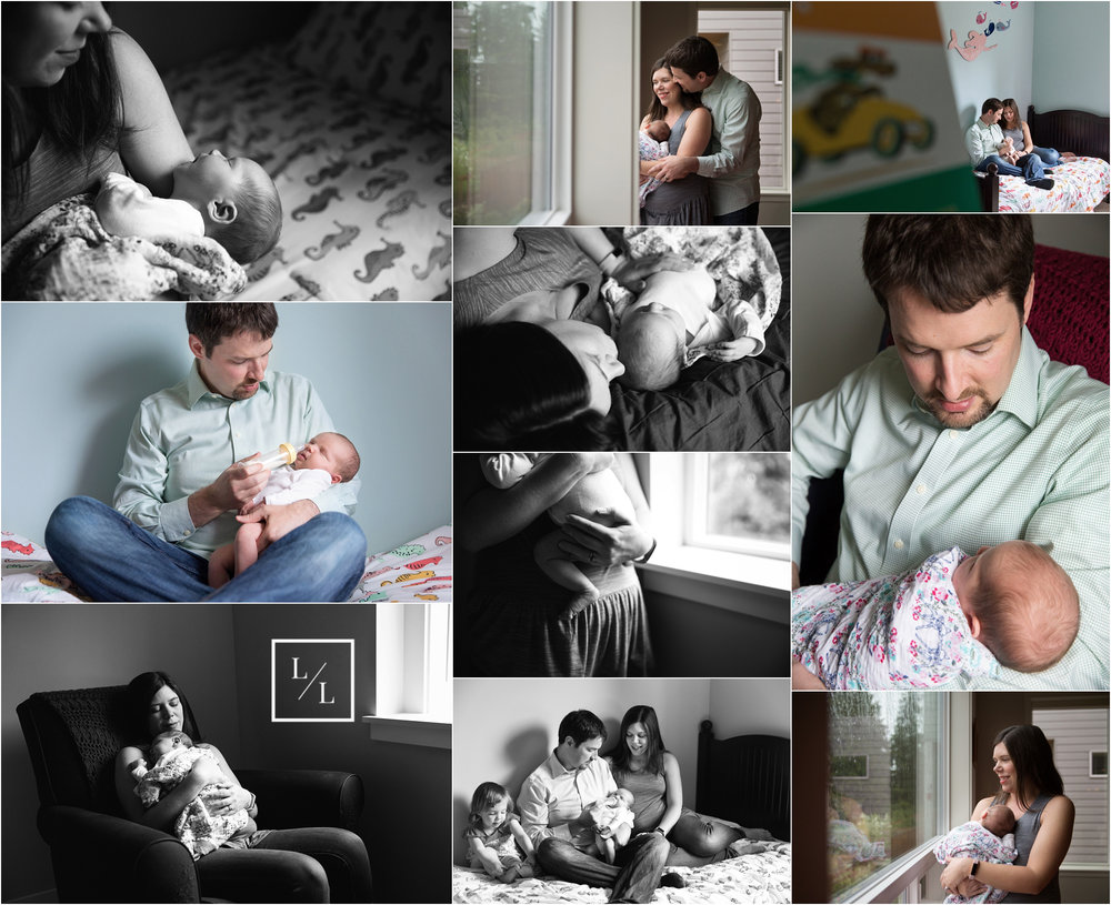 At Home Newborn Pictures Lynnwood