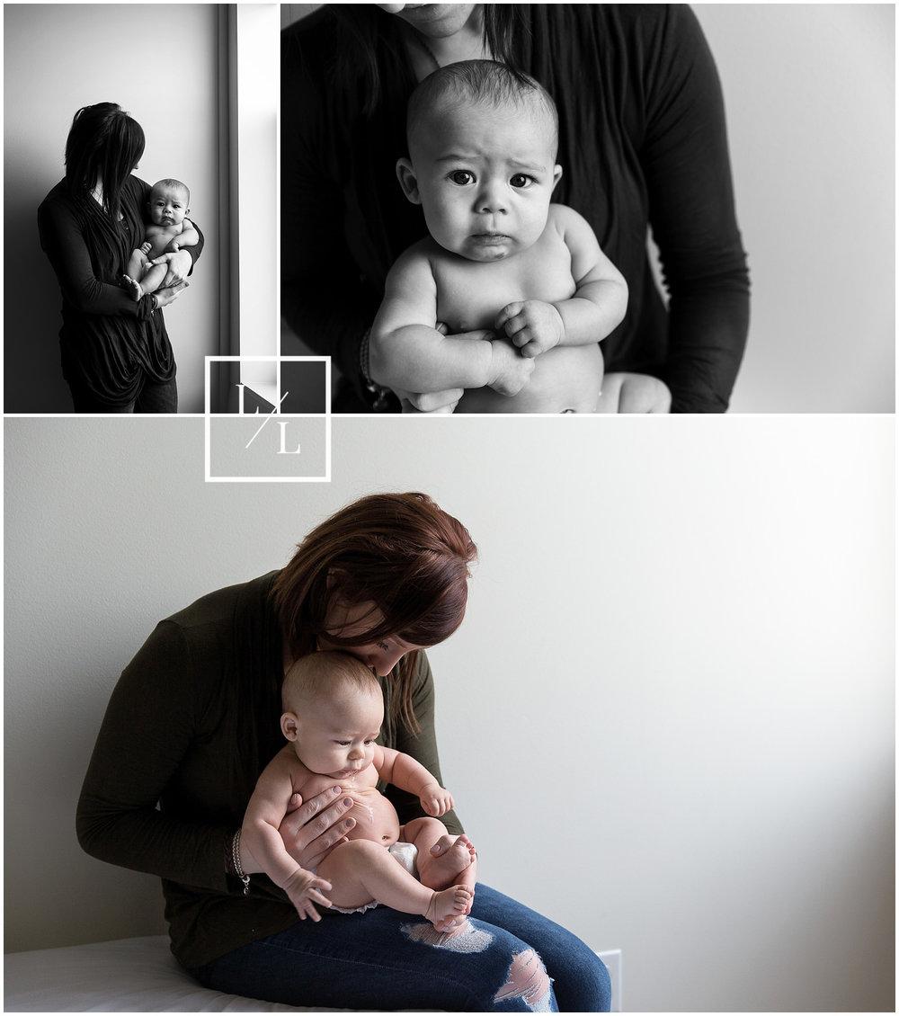 Mom and Baby Portraits in Everett Studio Window Light.jpg