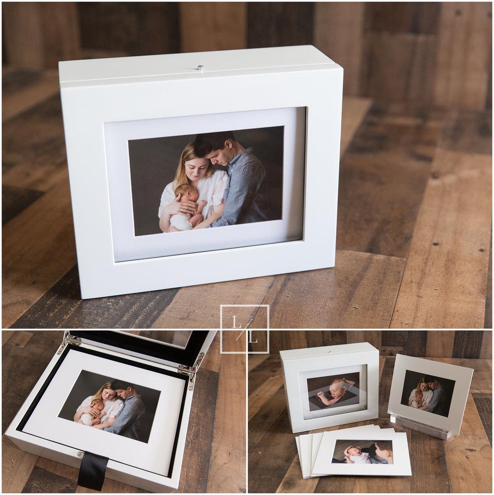 Keepsake Portrait Box for Newborn Photos