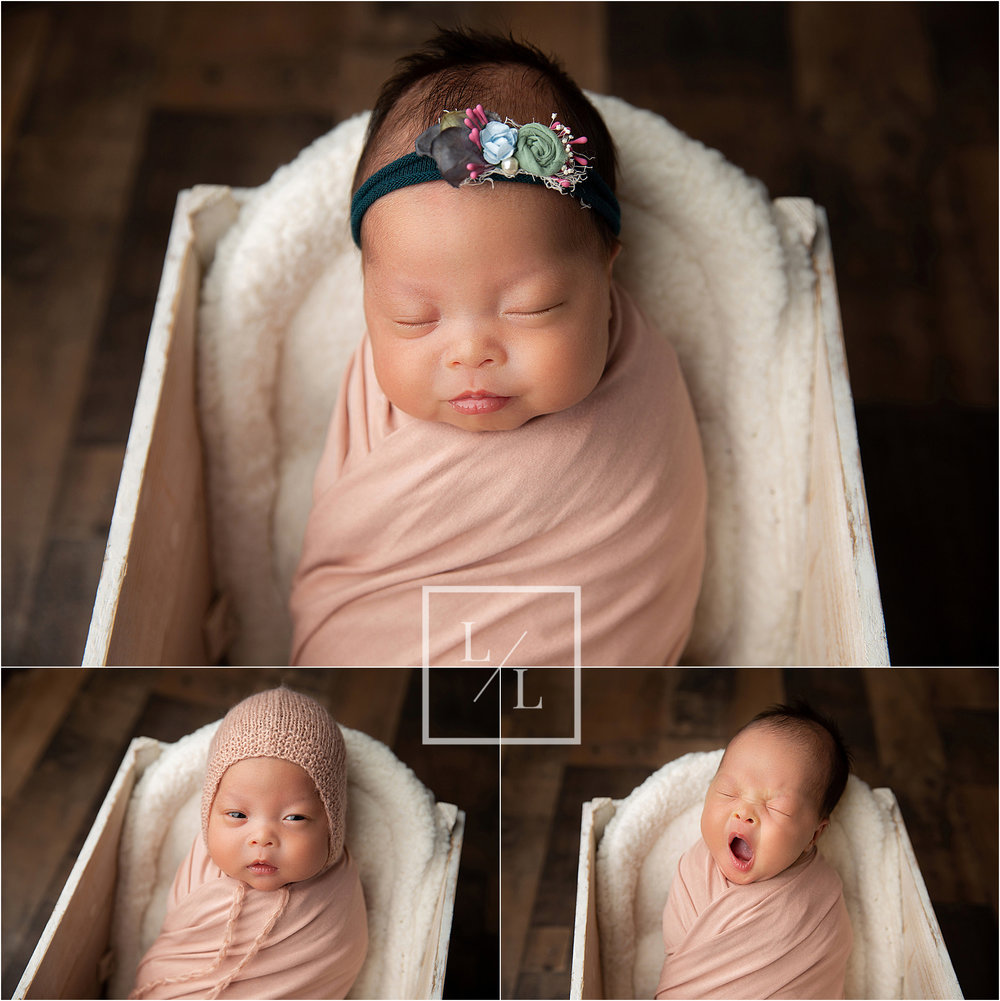 Beautiful Baby Girl Portraits with Rose Gold Wrap.jpg