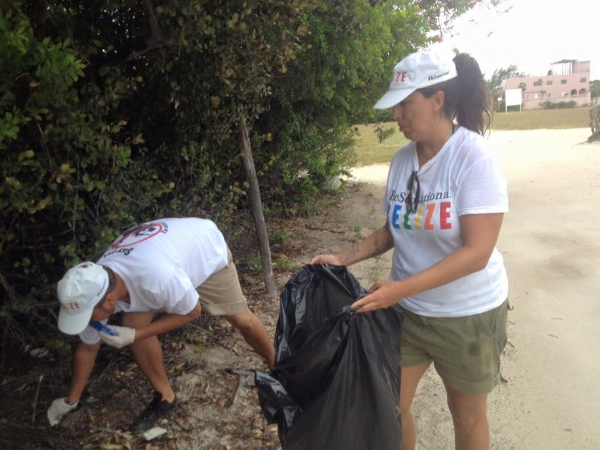 Cleanups and data collection on Caye Caulker.