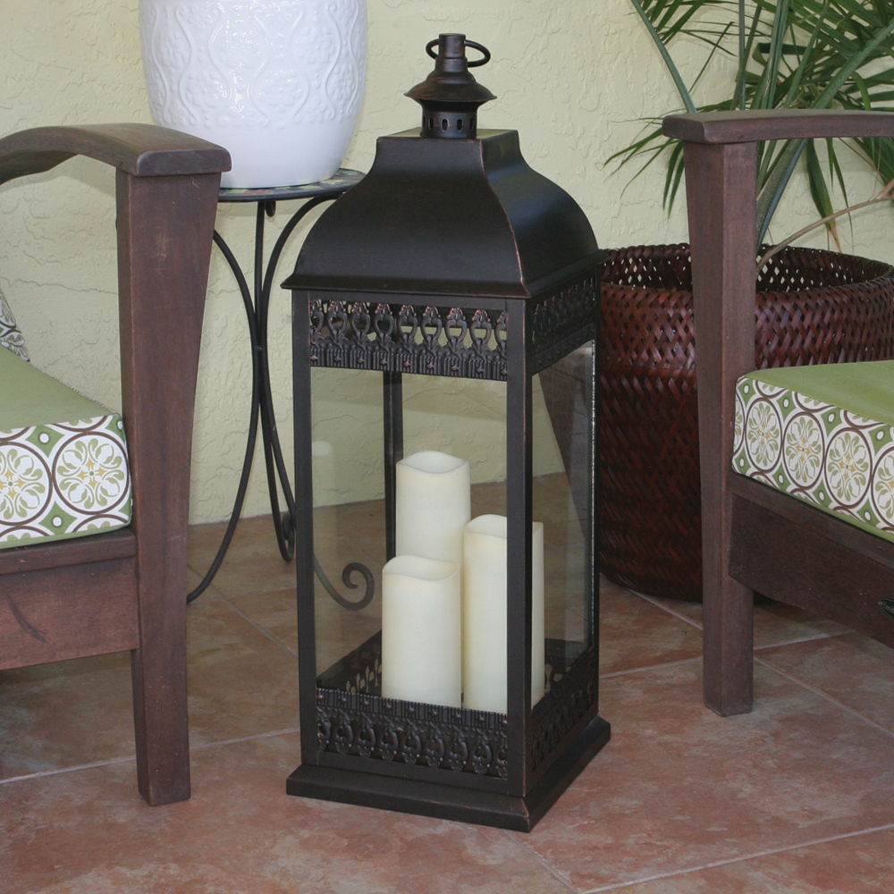 Outdoor Candle Lanterns Large Indoor This Battery
