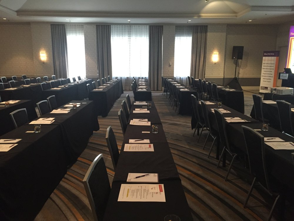 The calm before the storm. Everything ready for our summit guests and participants to arrive.