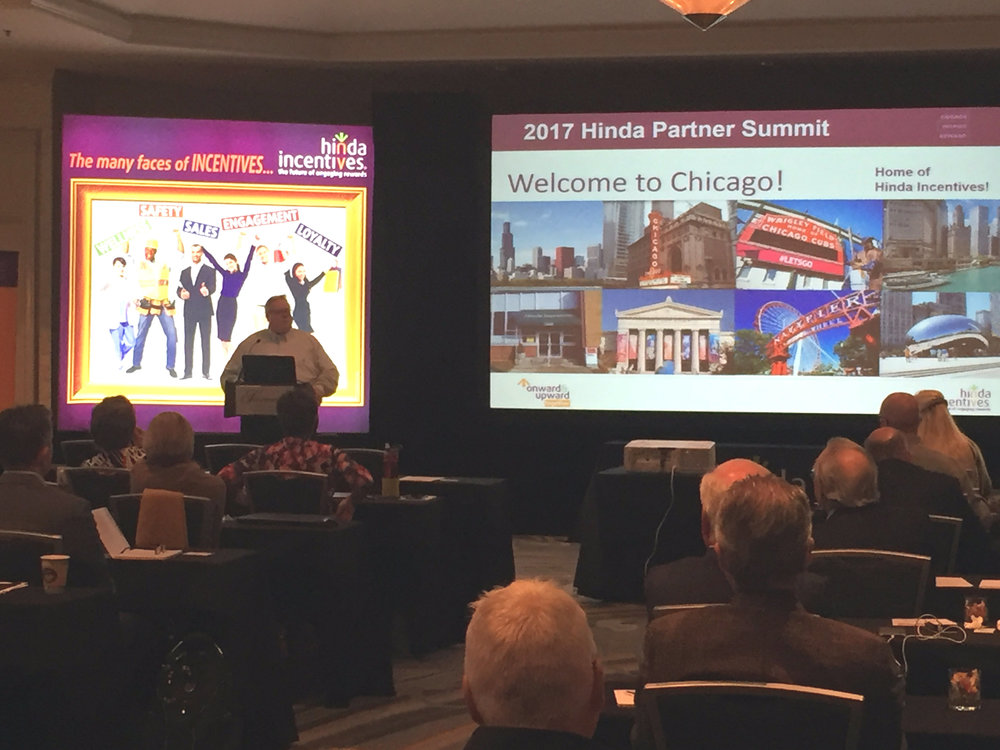 Hinda's fearless and dedicated president Mike Donnelly kicking off the Partner Summit Monday afternoon.