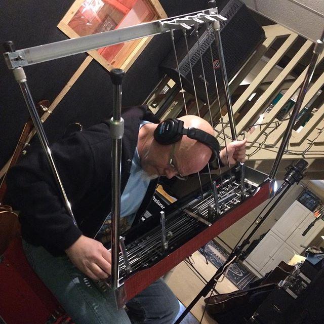 @daveristrim trying a new approach to playing the pedal steel. @jamescookbass @kstix8