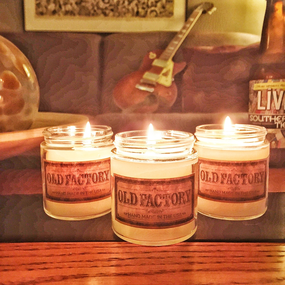 Old Factory Man Cave Candles
