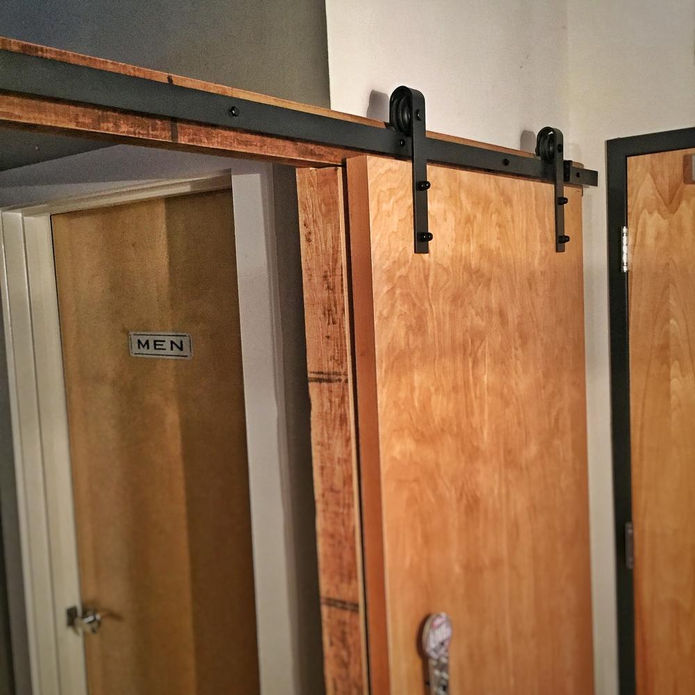 Steel Sliding Barn Wood Door Hardware Kit