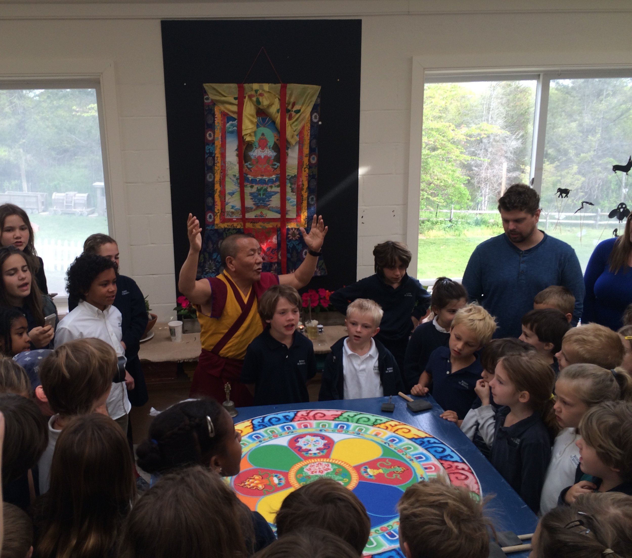 Tenzin in art room