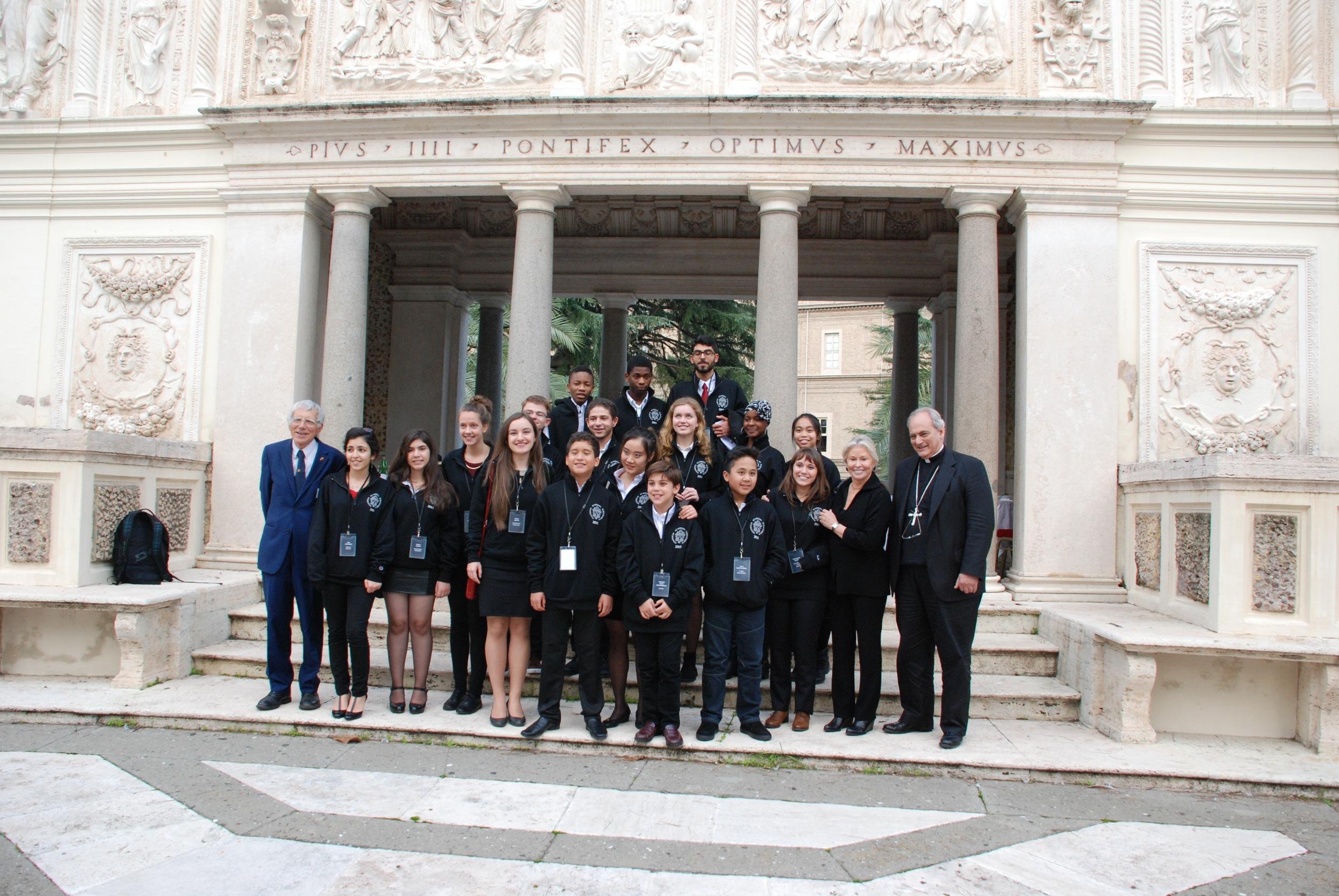 Students at Vatican