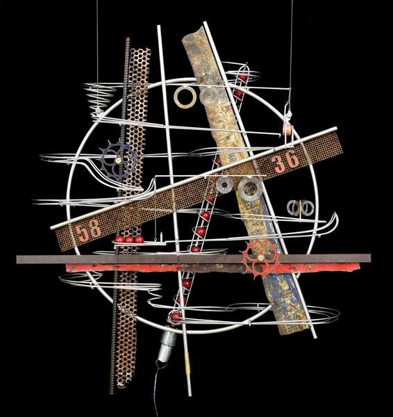 Wall Hanging Sculpture 34″ x 32″ x 9″