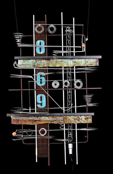 Wall Hanging Sculpture 42″ x 27″ x 9″