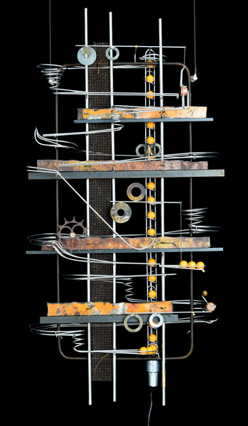 Wall Hanging Sculpture  44″ x 26″ x 9″ -Sold-