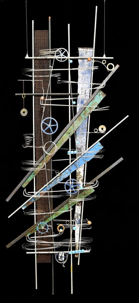 "Wall Hanging Sculpture  80″ x 34″ x 9"" -Sold-"