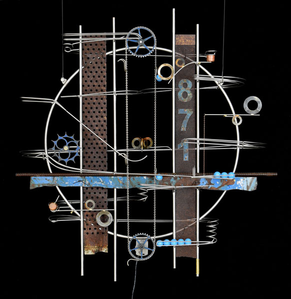Wall Hanging Sculpture  34″ x 32″ x 9""
