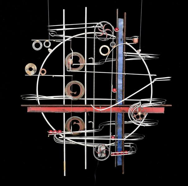 "Wall Hanging Sculpture 31″ x 35″ x 9"""
