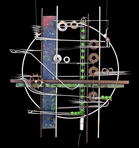 "Wall Hanging Sculpture 30″ x 35″ x 9"""