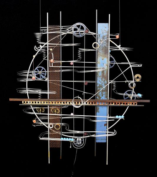"Wall Hanging Sculpture 52″ x 46″ x 9"""