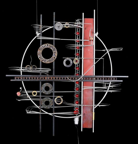 "Wall Hanging Sculpture   32″ x 31″ x 9"""