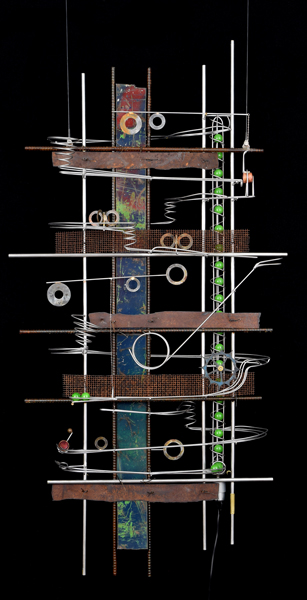 "Wall Hanging Sculpture   52″ x 27″ x 9"""