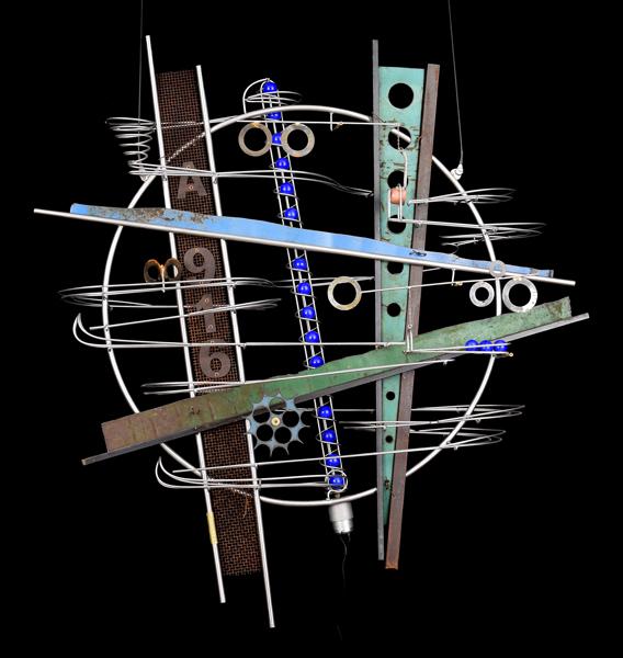 Wall Hanging Sculpture   36″ x 335″ x 9″