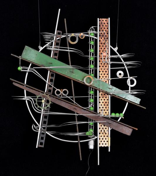 Wall Hanging Sculpture   32″ x 31″ x 9″