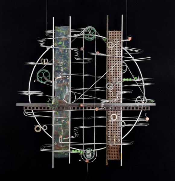 "Wall Hanging Sculpture    46″ x 41″ x 9"""
