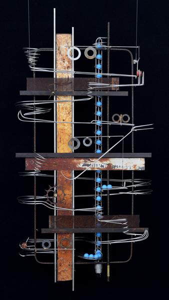 Wall Hanging Sculpture   32″ x 33″ x 9″