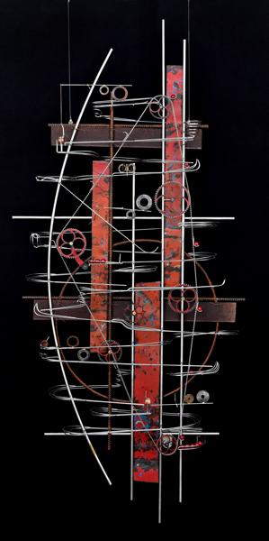 Wall Hanging Sculpture   34″ x 31″ x 9″
