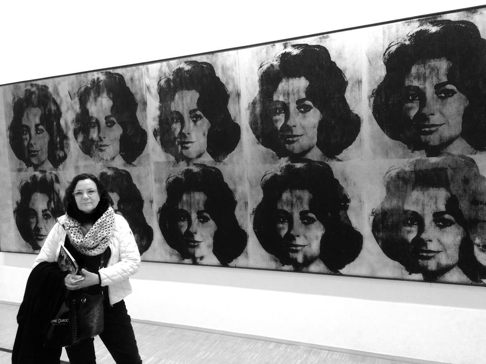 Ellen at the Pompidou Museum Paris 1