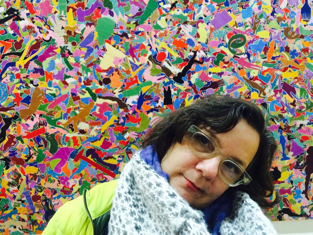Ellen at the Pompidou Museum Paris 2