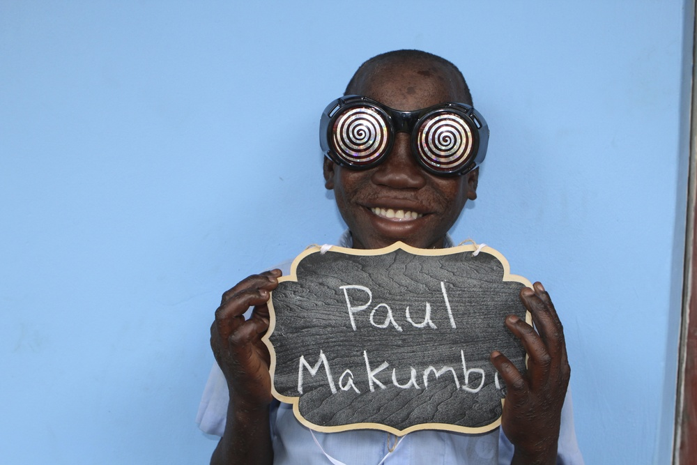Paul is excited for school this year with favorite teacherMiss Ruth.