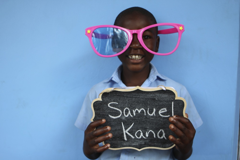 Kana Samuel is now in third grade and loves math.