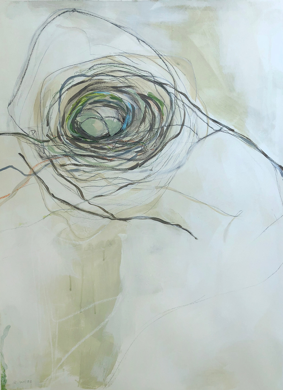 """Entwined II""    $950 - Acrylic, graphite and pastels on paper, 22x30"" custom framed, available at Lyons Share Gallery"