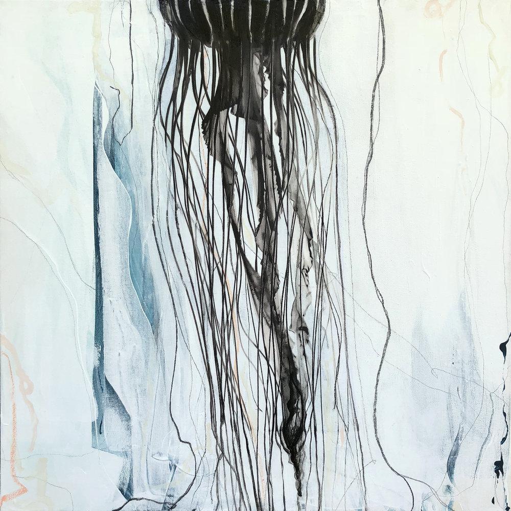 """So Long""    Mixed Media on Canvas, 20x20,"" AVAILABLE at    Tampa Bay Interiors"