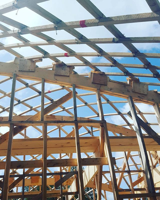 That #gridshell life.  #designbuild #collaboration #dalhousie #uncc #uaz #wood #innovation #experimental #architecture #capebretonhighlandsnationalpark