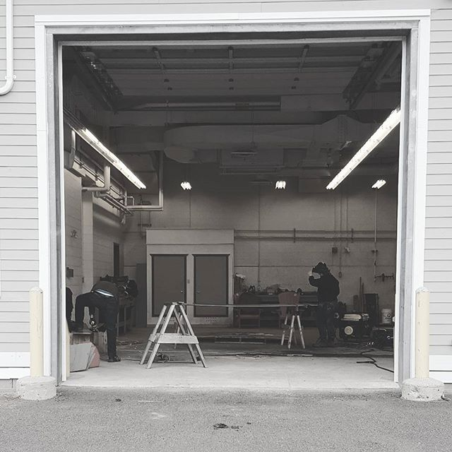 Our new workspace for the next few days #steelwork #capebretonnationalhighlands #novascotia #designbuild #gridshells #stainlesssteel #uncc #uaz #dalhousie #novascotia