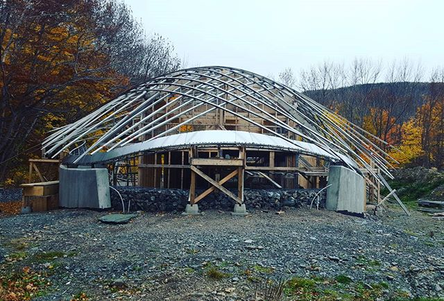 Views from the North.  #trusslife #stainlesssteel #collaboration #designbuild #uncc #uaz #experimental #architecture #dalhousie #capebretonhighlandsnationalpark #capebreton