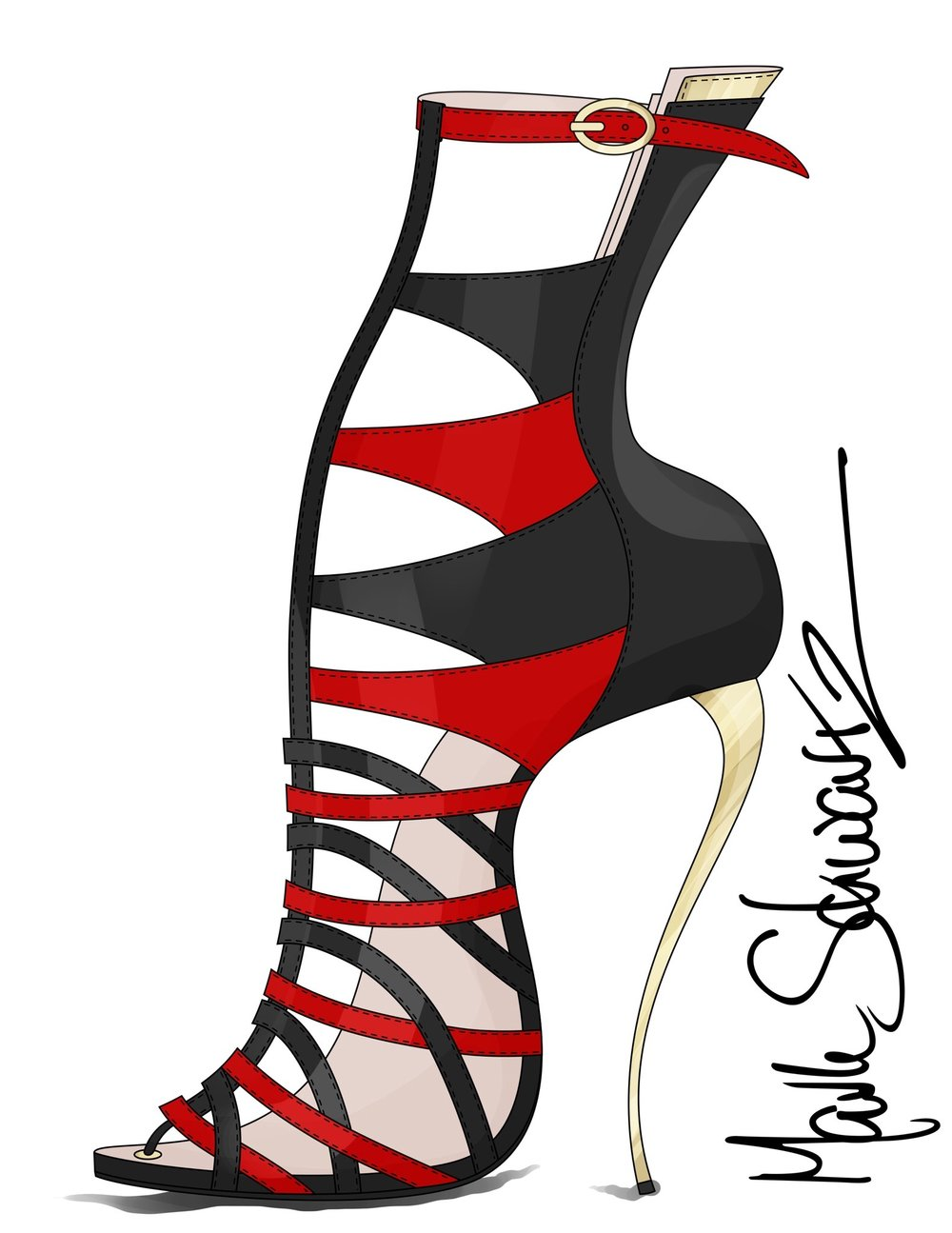 I am offering online classes in footwear design for beginners and accomplished designers as well , classes start at $500.00 for one month.  Contact / schwartzmark@mac.com  www.highheeledart.com